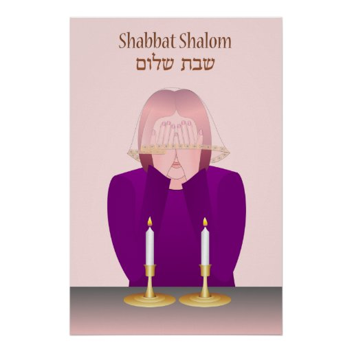 Lighting Shabbat Candles Poster
