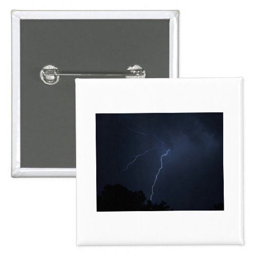 lighting - stormy night 2 inch square button