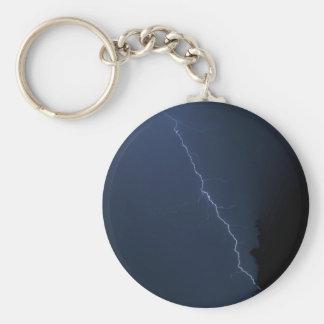 lighting - stormy night basic round button keychain
