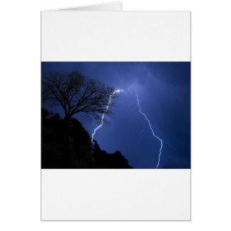lighting - stormy night card