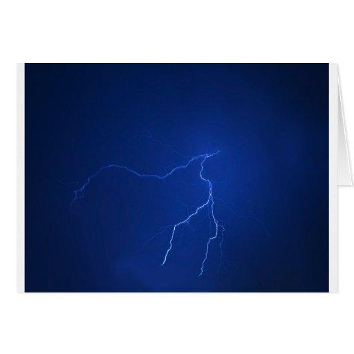 lighting - stormy night greeting card