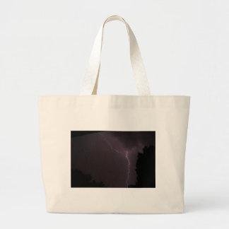 lighting - stormy night large tote bag