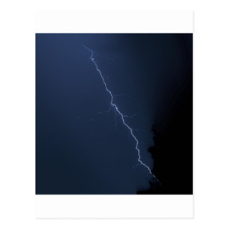 lighting - stormy night postcard