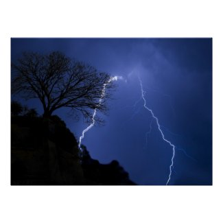 lighting - stormy night posters