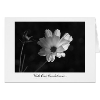 Lighting The Cosmos - With Our Condolences Greeting Card