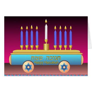 Lighting The Hanukkah Candles Greeting Card