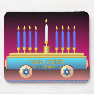Lighting The Hanukkah Candles Mouse Pad