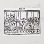 """Lighting the Menorah Postcard<br><div class=""""desc"""">Jewish School's Lighting the Menorah (woodcut) located at a Private Collection.</div>"""