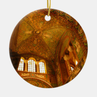 Lighting the Mosaics Ceramic Ornament