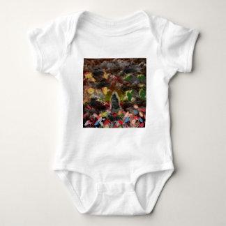 Lightly charmingly flower of four seasons baby bodysuit
