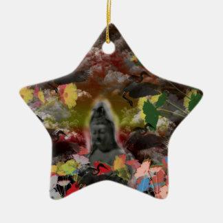 Lightly charmingly flower of four seasons ceramic ornament