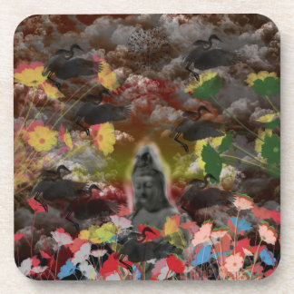 Lightly charmingly flower of four seasons coaster