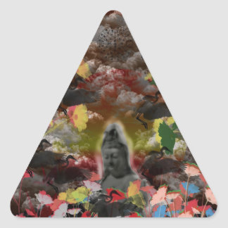 Lightly charmingly flower of four seasons triangle sticker