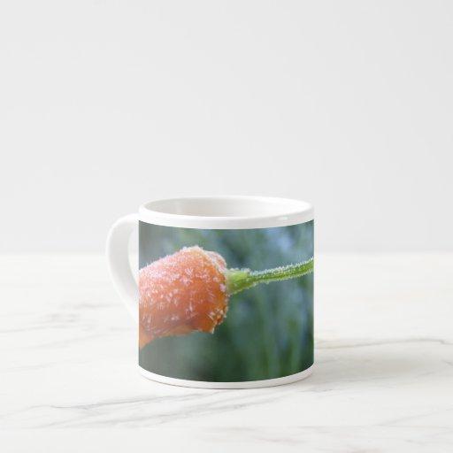 Lightly Frosted California Poppy Photograph Espresso Mug