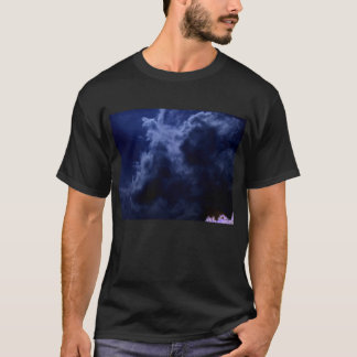 Lightly Luminous Blue Chaotic Cumulus and Negative T-Shirt