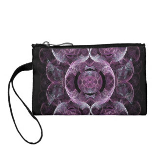 Lightly Swirling Purples and Blues Coin Purse