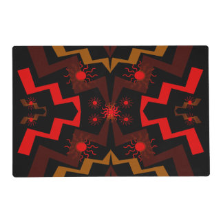 Lightning Abstract Laminated Placemat