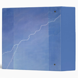 Lightning Across Glass Building 3 Ring Binder