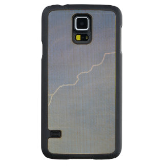 Lightning Across Glass Building Carved Maple Galaxy S5 Case