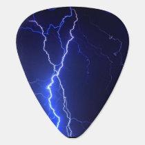 Lightning at night design guitar pick