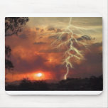 lightning at sunset mouse mats