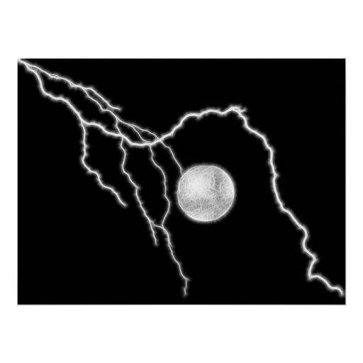 Lightning Ball Print