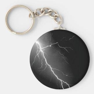Lightning Basic Round Button Keychain