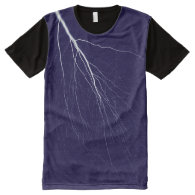 Lightning Bolt All-Over Printed Panel T-Shirt All-Over Print T-shirt