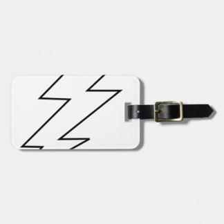lightning bolt bag tag