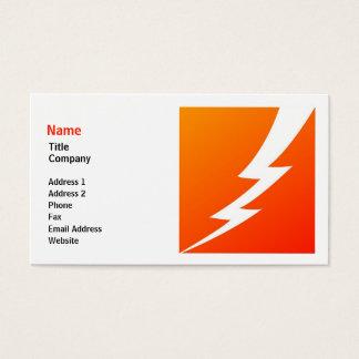 Lightning Bolt Business Card Template