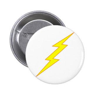 Lightning Bolt 2 Inch Round Button