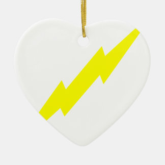 Lightning Bolt Ceramic Ornament