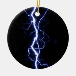 Lightning Bolt Ceramic Ornament