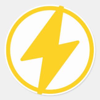 Lightning Bolt Classic Round Sticker
