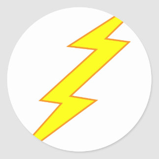 Lightning Bolt Classic Round Sticker