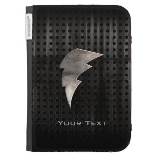 Lightning Bolt; Cool Black Kindle Cover