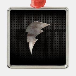 Lightning Bolt; Cool Black Christmas Ornaments