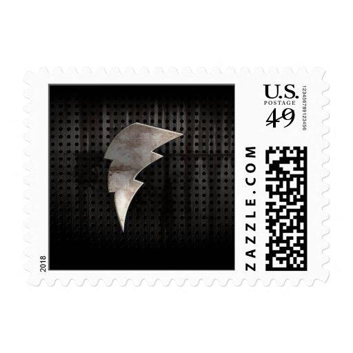 Lightning Bolt; Cool Black Stamp