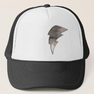 Lightning Bolt; Cool Black Trucker Hat