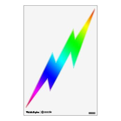 Lightning Bolt Decal - Color Spectrum Room Sticker