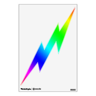 Lightning Bolt Decal - Color Spectrum Wall Graphics