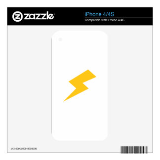 Lightning Bolt Decals For The iPhone 4