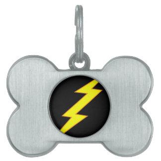 Lightning Bolt Dog Tag Pet ID Tag