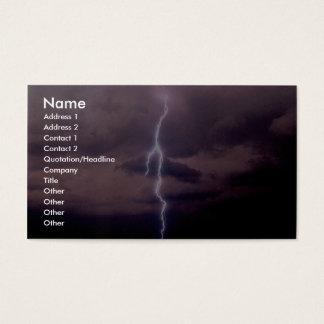 Lightning bolt during thunderstorm business card