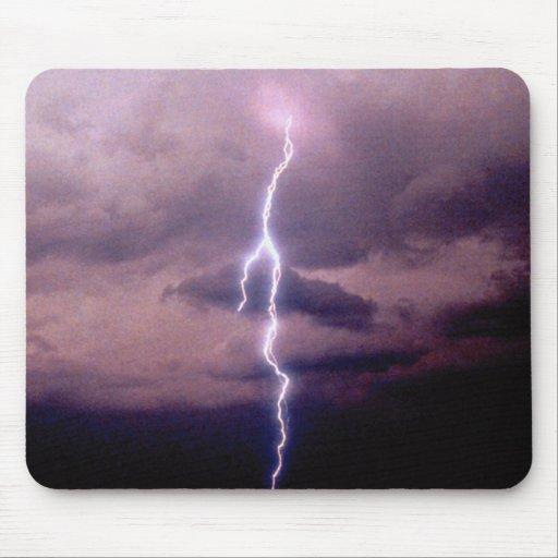 Lightning bolt during thunderstorm mouse pad