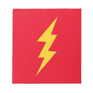 Lightning Bolt Notepad
