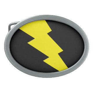 """""""Lightning Bolt"""" Oval Belt Buckle"""