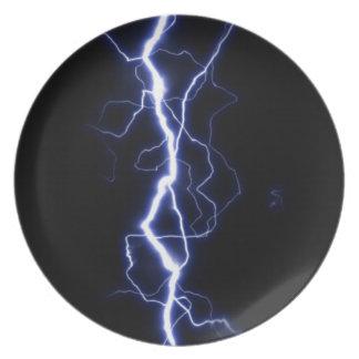 Lightning Bolt Party Plates