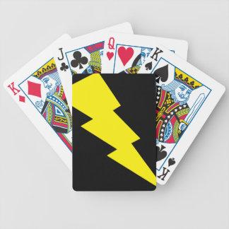 """Lightning Bolt"" Playing Cards"