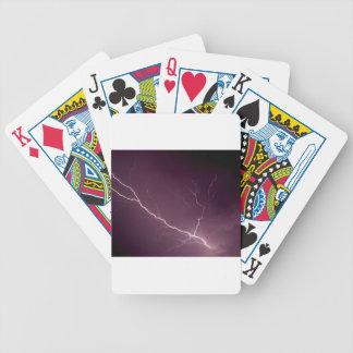 Lightning bolt deck of cards